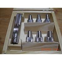 Locheisen, Lochstanzer, Locheisensatz, mit 6 verschiedenen Größen, 5, 5.5, 6, 6.5, 7, 8,mm