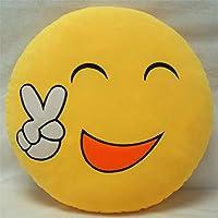 Almohada de emoji decorativa de 30 cm x 30 cm, diseño de emoticonos sonrientes