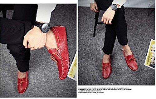 Men'S Peas Shoes Chaussures DéContractéEs Chaussures Conduite Chaussures Bateaux Camp Mocs Red