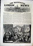 Old Original Antique Victorian Print Street Scene 1861 Seller Hot Cross Buns Baker 69Mar1
