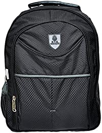 KTX Black Synthetic Coated Cloth School Backpack (25 LTR) - Middle & High School