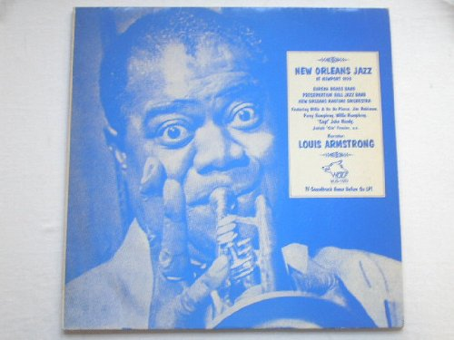 Louis Armstrong New Orleans Jazz At Newport 1970 LP Wolf WJS1003 EX/VG 1970s (New Vinyl Orleans)