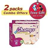 #9: Premium Champs High Absorbent Premium Pant Style Diaper (Pack of 2)(Free 2-Pair Socks)| Premium Pant Diapers | Premium Diapers | Premium Baby Diapers | anti-rash and anti-bacterial diaper | (Small, 60) …