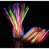 Glow Stick (Pack Of 100),Light Up Toys Glow Stick Bracelets Mixed Colors Party Favors Supplies,Tube Of 100,(Diwali Glow Sticks)