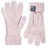 Superdry Damen Handschuhe Arizona Cable Gloves, (Sandy Pink Twist Wa8), One Size (Herstellergröße: OS)