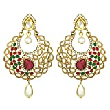 Peora Crescent Pearl Drop Earrings For G...