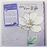 Verlust Von Frau Blume Mitgefühl mit Brieftasche Andenken lila Luxus schmerzlichen Verlust