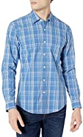Amazon Essentials Men's Long-Sleeve Slim-fit Casual Poplin Shirt