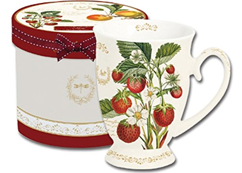 Fragola tazza da caffè Mug tazza su piedistallo in confezione