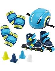 ItsImagical - Set Rolling, mochila con set de patinaje de color azul (Imaginarium 70044)