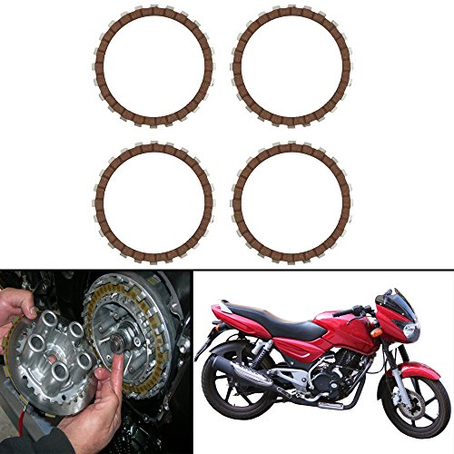 Autofy Highly Durable Aluminium Clutch plates/Clutch Disc For Bajaj Pulsar Old (Set of 4)