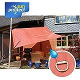 sunprotect 83270 Waterproof Toldo / Vela de Sombra, 3 x 3 m, cuadrado, roja