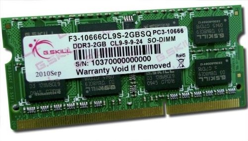 Price comparison product image G. Skill F3-10666CL9S-8GBSQ 2GBSQ Memory 2 GB (10666MHZ / CL9 / DDR3-RAM