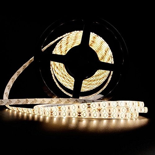 LEDMO Striscia LED, SMD5630-300led 5 metri bianco caldo 2700K DC12V IP65 impermeabile 25LM/LED, 2 volte la luminosità di SMD5050 LED striscia luminosa a LED Light Strip , kit completo include alimentazione 12V 5A.