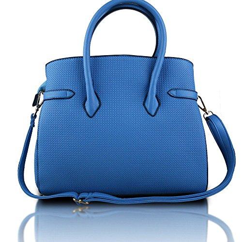 Miss Lulu, Borsa a mano donna Plain Blue