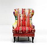 DESIGN OHRENSESSEL 'PATCHWORK' Sessel Lesesessel mit Armlehnen bunt