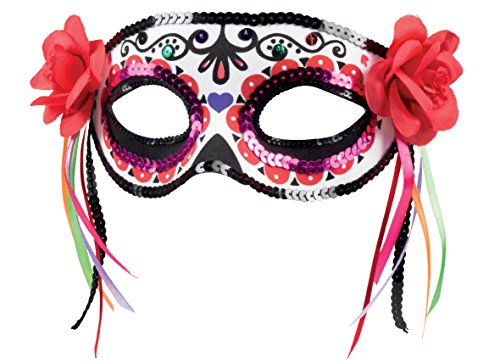Boland 97525 - Augenmaske Dia de los Muertos La Patrona, Sonstige (Los Halloween De Für Kostüm Dia Muertos)