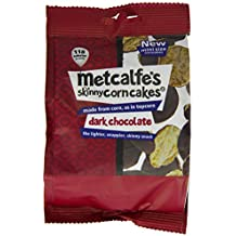 Metcalfe's skinny Mini Corncakes Dark Chocolate 50 g (Case of 6)
