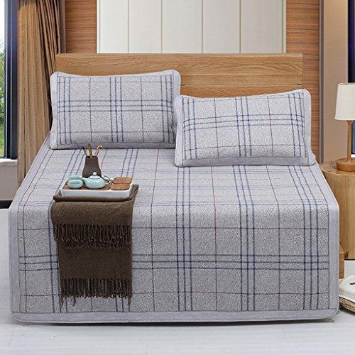 Liuyu · Sièges de rotin 1,8 mètres tapis d'été 1,8 M tapis de lit 1,5 trois ensembles de l'étudiant unique dortoir pliant l'assurance de la qualité de voyage essentiel