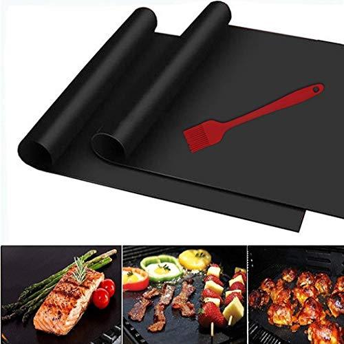 Biuday 1Pc Reutilizable Antiadherente BBQ Grill Roast Mat Portable Picnic al Aire Libre para cocinar barbaco Parrillas eléctricas