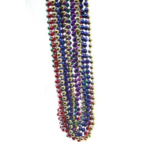 b005omv5lm Sortiert Farbe Mardi Gras Überwurf Perlen, 12-er Pack, 83,8cm ()