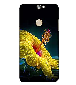 Hibiscus 3D Hard Polycarbonate Designer Back Case Cover for Coolpad Max A8