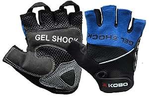 Kobo WTG-04 Gym Gloves, Small (Blue)