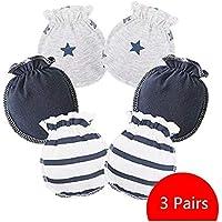 Wiwi.f Neugeborenes Baby Handschuhe Neugeborenen Anti-Grab-Handschuhe Baumwolle dünn
