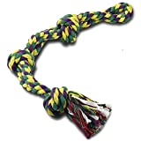 RIO Direct Hundespielzeug aus Seil für starke Hunde, große Hunde, stabil, mit 3 Knoten, robustes Kauspielzeug - extra langlebig - fast unzerstörbar - waschbar, für große Hunderassen.