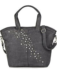 COWBOYSBAG, cuir, femmess, sac fourre-tout, sacs à main, sacs en cuir, aspect vintage, sac à main, sac bandoulière, cuir, noir, 45 x 33 x 13 (H x L x P)