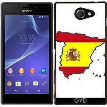 Funda para Sony Xperia M2 - España Mapa De La Bandera by Cadellin