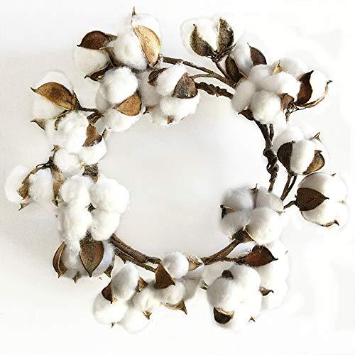 VHVCX Kranz Weihnachtskranz Tür geklopft Cotton Dry Flower Simulation Cotton Weihnachtsgirlande Türdeko Ferien 26cm