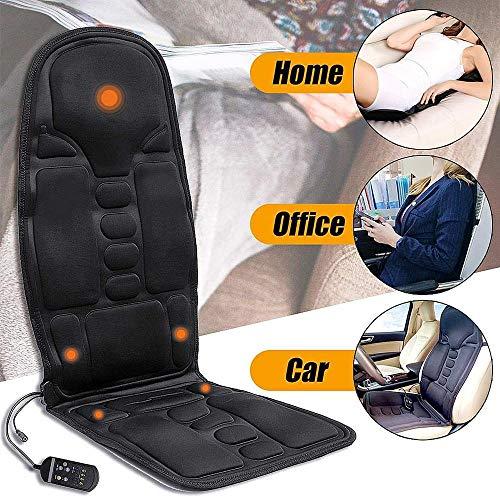 Elettrico indietro massaggio a vibrazione sedile cuscino schienale massaggiante sedia lombare collo posteriore pad relax per home office car