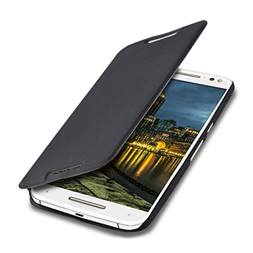 kwmobile Motorola Moto X Style Hülle - Kunstleder Handy Schutzhülle - Flip Cover Case für Motorola Moto X Style