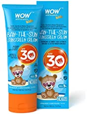WOW Kids BanTheSun Sunscreen Cream Spf 30 Pa No Parabens S