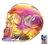 bick.shop LED Totenkopf Skull Totenschädel inkl. 4 Batterien Coole Deko Gothic schädel