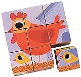 Djeco - Jeux Educatifs Bois - 9 Cubes Cot Cot