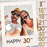 Cadre photo 1ère / 16/18/21/30/40/50/60ème anniversaire en papier 60 * 70cm 30 Years Old