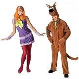 FEMMES ET HOMMES COUPLES Daphne SCOOBY DOO 1960s années 60 TV FILM déguisement costume déguisement - Multicolore, Ladies UK 8-10 & Mens STD