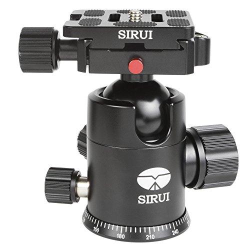 SIRUI G-20X Stativkugelkopf (Alu, Höhe: 98mm, Gewicht: 0.36kg, Belastbarkeit: 20kg) schwarz mit Wechselplatte TY-50X