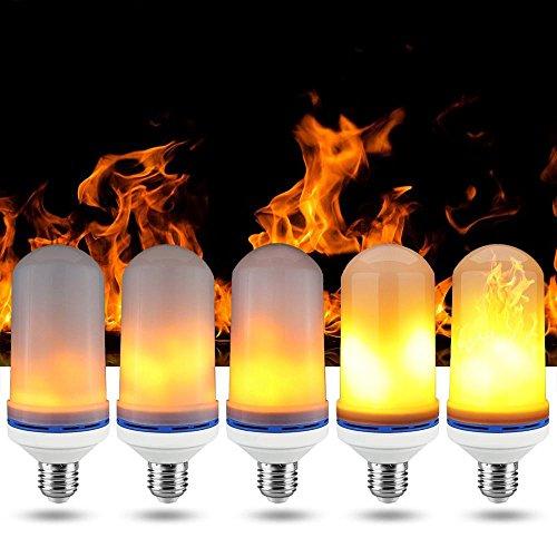 niceEshop(TM) LED Flamme Glühlampe, Neue Verbesserte Kreative Flackernde Emulation Flammen Lampen, Flammen Effekt Feuer Licht Atmosphäre Dekoration Lampen für Hotel / Bars / Restaurants / Festival Dekoration