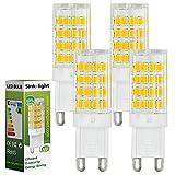 4X Sink-light® G9 5W LED Lampe 51x2835 SMD Leuchtmittel Mit Keramic und ACRYLIC Material (480LM, Warmweiß 3000K , AC 220-240V, 360º Abstrahlwinkel, Ø15 x 48mm) Energiespar Licht