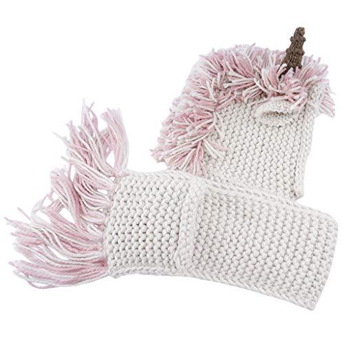 Bufanda Sombrero de Invierno Dibujos Animados Gorro Bufanda Lana Niña  Primavera Unicornio cálido al Aire Libre 883c4476843