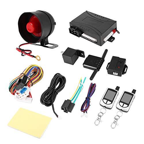 Vobor Zweiwegautowarnungssystem Fernstart Keyless Entry Fahrzeugsicherheit Pager Automatische Auto Alarmanlage LB-