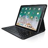 CSL - iPad Pro 12,9 Zoll Tastatur inkl. Kunstledercase | Schutzhülle/Tasche/Cover/Case | Lightweight Design | Multimedia-Funktionstasten | QWERTZ-Layout (Deutsch) | Magnetische Befestigung