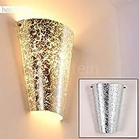 Luxus Wand Lampen Wohn Schlaf Zimmer Up Down Leuchte Flur Dielen Glas Goldfarben