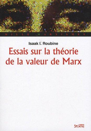 Essais sur la théorie de la valeur de Marx