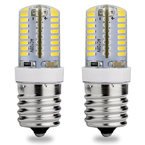 E17LED Glühbirne, 120V AC, Tageslicht Weiß 6000K, 3Watt, 25W Halogen Ersatz, Mikrowelle Appliance Gefrierschrank Zwischenplatte Kandelaber, 2er Pack -