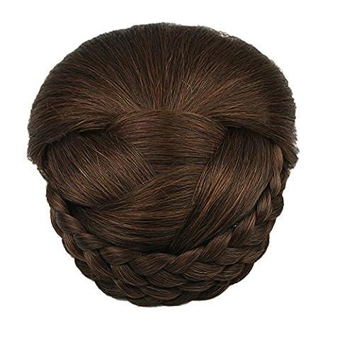 Feicuan Damen Hairpieces Synthetic Plait Hair Bun Chignon Clip
