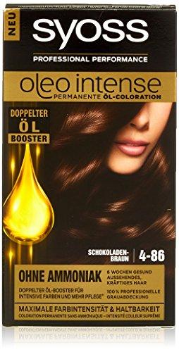 Syoss Oleo Intense 4-86 Schokoladenbraun Haarfarbe, 3er Pack (3 x 115 ml)